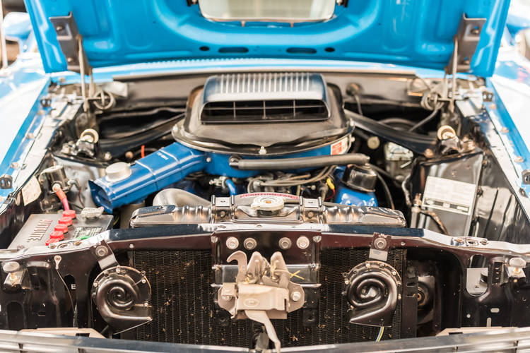 Motor V8 Ford Mustang