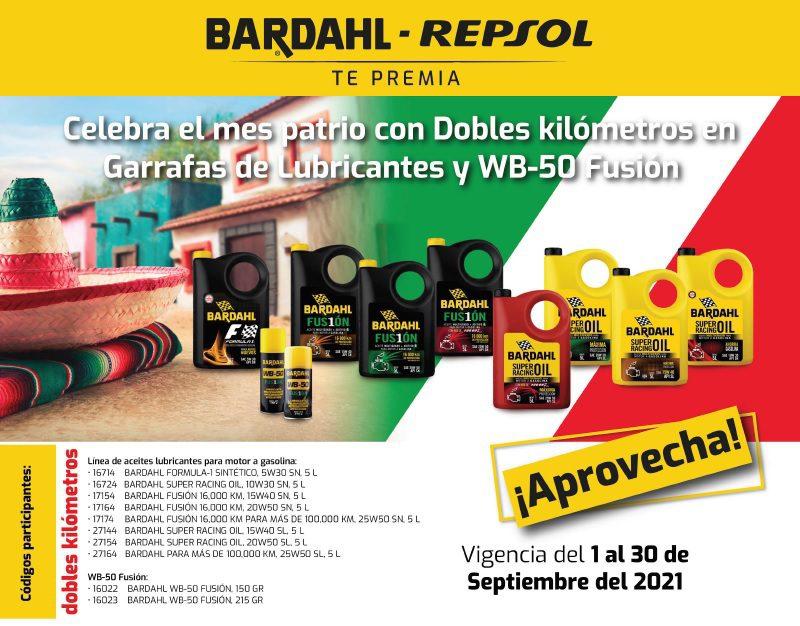 Dobles Kilómetros en Bardahl-Repsol te premian